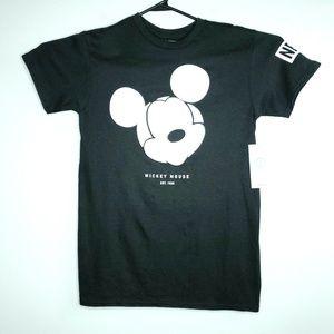 Neff Mens Small Black Mickey Mouse Disney Shirt